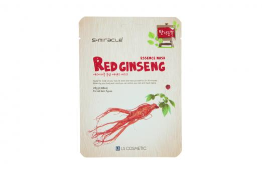 Маска для лица с экстрактом женьшеня S+miracle Red Ginseng Essence Mask