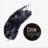 Глиттер-гель 02 Diva, 5мл