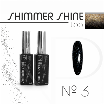 Топ с шиммером Nartist Top Shimmer Shine №3, 6мл