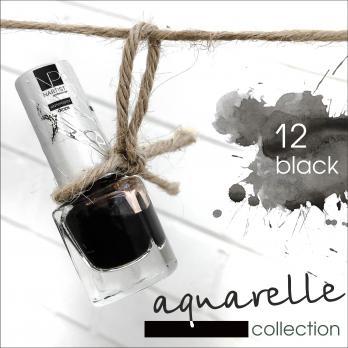 Акварельные капли Nartist Watercolor drops №12 black (черные), 5мл