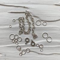 Пирсинг ногтей mix (кольца, цепочки, бейлы), серебро