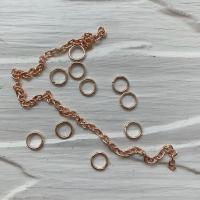 Пирсинг ногтей mix (кольца, цепочки), розовое золото