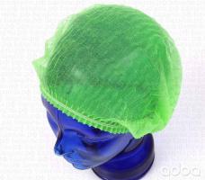 Шапочка одноразовая зеленая, 100шт