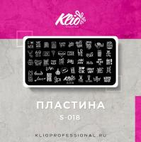 Пластина для стемпинга Klio S-018