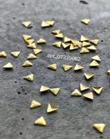 Полусферы треугольные граненные шлифованные золото 2х2 мм Artex 07320082