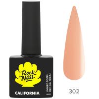Гель-лак RockNail California 302 Pina Colada, 10ml