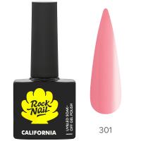 Гель-лак RockNail California 301 Pink Salt, 10ml