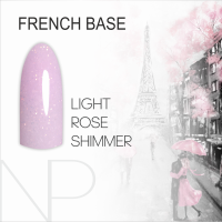 Камуфлирующая база Nartist French Base Shimmer Light Rose, 12 ml