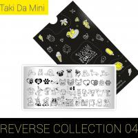 Пластина для стемпинга TAKIDA mini 04 Reverse Collection