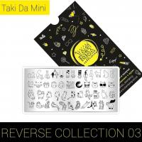 Пластина для стемпинга TAKIDA mini 03 Reverse Collection