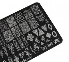 Пластина Lesly 9,5x14,5cm Ornate