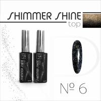 Топ с шиммером Nartist Top Shimmer Shine №6, 6мл