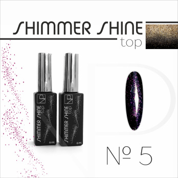 Топ с шиммером Nartist Top Shimmer Shine №5, 6мл