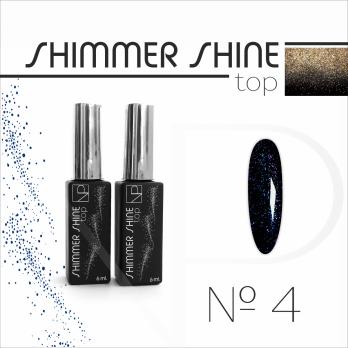 Топ с шиммером Nartist Top Shimmer Shine №4, 6мл