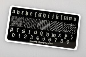Пластина Swanky Stamping 044