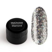 Гель-лак Diamond Milky Way (платиновый) Monami, 5 гр