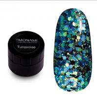 Гель-лак с блеском Turquoise Monami, 5 гр