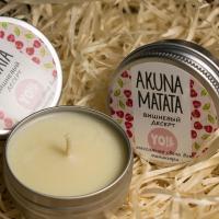 Массажная свеча для рук и тела AKUNA MATATA Вишневый десерт YO, 30мл
