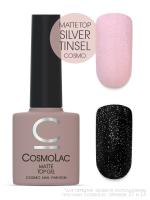 Топ матовый Silver Tinsel (с глиттером) CosmoLac, 7,5 мл