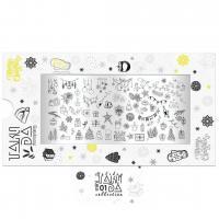 Пластина для стемпинга TAKIDA mini 01 Holiday Collection