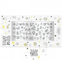 Пластина для стемпинга TAKIDA mini 02 Holiday Collection