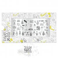 Пластина для стемпинга TAKIDA mini 03 Holiday Collection