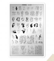 Пластина для стемпинга SunNail Art 001