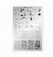 Пластина для стемпинга SunNail Art 002