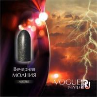 Гель-лак с микроблесками Вечерняя молния Vogue, 10мл