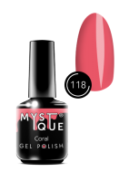 118 Gel Polish #118 «Coral» MYSTIQUE™, 15 ml