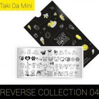 Пластина для стемпинга TAKIDA mini 04 Reverse Collection (без пленки)