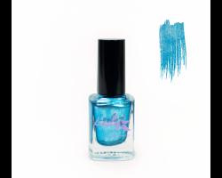 Лак для стемпинга 'Lesly' №65 Shimmer Blue