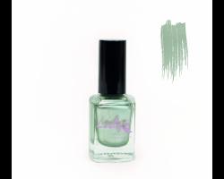 Лак для стемпинга 'Lesly' №67 Gray-green Chrome