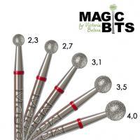 Фреза алмазная, шар, средне-мягкая 2.3 мм Magic Bits