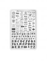 Пластина для стемпинга Малина 11 'Поиграй шрифтами'