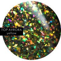 SOTA TOP AVRORA Yellow, глянцевый топ с шиммером, 5 мл