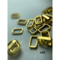 Металлический дизайн прямоугольник-контур, золото, размер S (арт. 448)