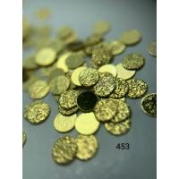 Металлический дизайн Монетки рифленые, золото, размер L (арт. 453)