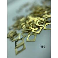 Металлический дизайн круг в квадрате-контур, золото размер М (арт. 450)