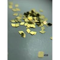 Металлический дизайн ромб-цельный, золото, размер S (арт. 459)