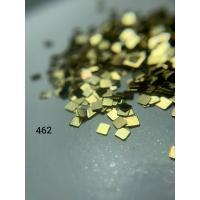 Металлический дизайн квадрат-цельный, золото, размер S (арт. 462)