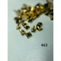 Металлический дизайн Пирамида 3D, золото, размер S (арт. 463)