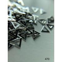 Металлический дизайн Треугольник - контур серебро, размер М (арт. 470)