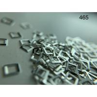 Металлический дизайн КВАДРАТ - контур серебро, размер М (арт. 465)