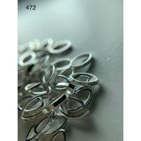 Металлический дизайн ОВАЛ - контур серебро, размер М (арт. 472)