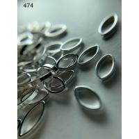 Металлический дизайн серебро ЛЕПЕСТОК контур, размер М (арт. 474)