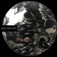 Пайетки черные (арт. 493)