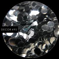 Пайетки серебро маленькие (арт. 495)