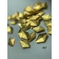 Металлический дизайн Ромб объемный, рифленый, золото, M (арт. 457)