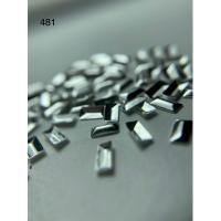 Металлический дизайн ПРЯМОУЛЬНИК объём серебро, размер M (арт. 481)